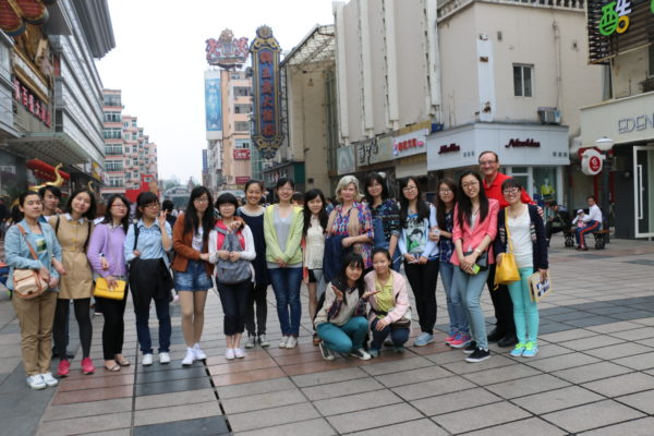 A photo of a large group of Students from China Pharmaceutical University in Nanjing, China IMG_0692