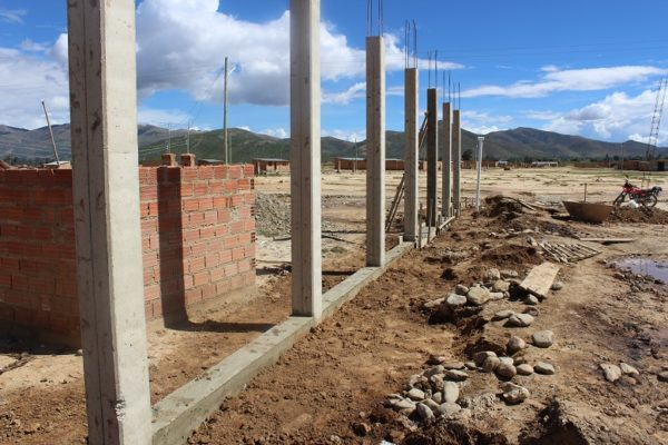 A photo of foundation of a Child Development Center in Aramasi, Bolivia (14) c