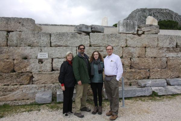 Photo of Bema where Paul stood before Gallio in Corinth, Greece IMG_5297